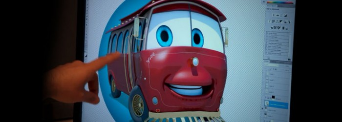 Sparky The Trolley Pixar-Inspired Animated Character: Part 1