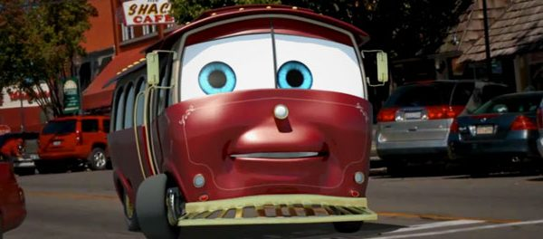 Historic Downtown Branson's Sparky The Trolley, a 3D digitally animated character created by Digital LunchBox