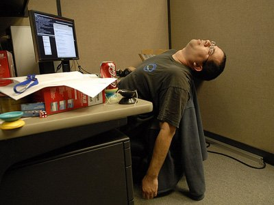 Guy Sleeping At Desk