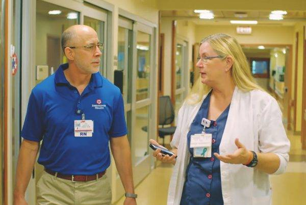 Mobile Heartbeat video that tells the story of Eisenhower Health's disaster preparedness with MH-CURE software product.